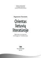 Orientas lietuvių literatūroje